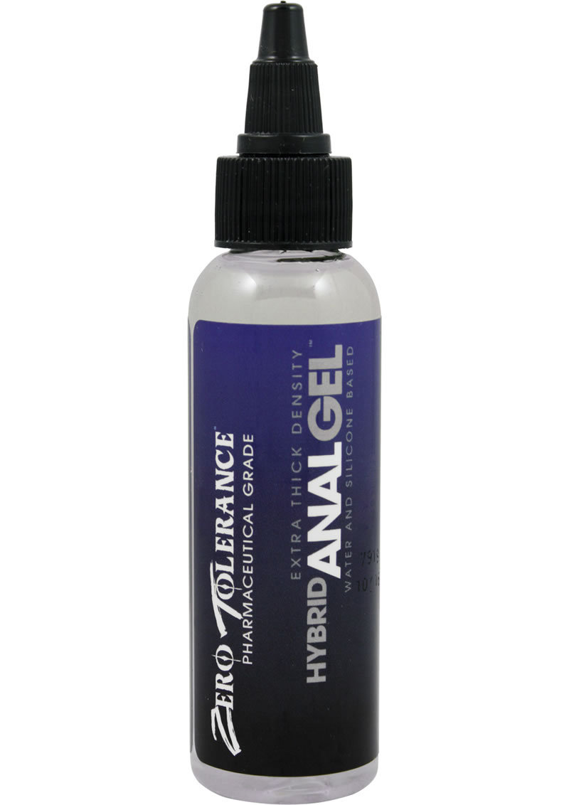 Zero Tolerance Hybrid Anal Gel Water And Silicone Based Extra Thick Density Lubricant 2oz